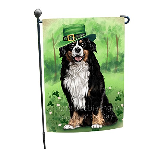 St. Patricks Day Irish Portrait Bernese Mountain Dog Garden Flag GFLG49106 - Bernese Mountain Dog Garden Flag
