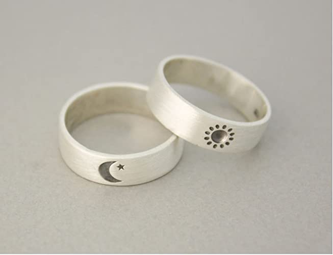 Sterling Silver Sun & Moon Ring SNlEu