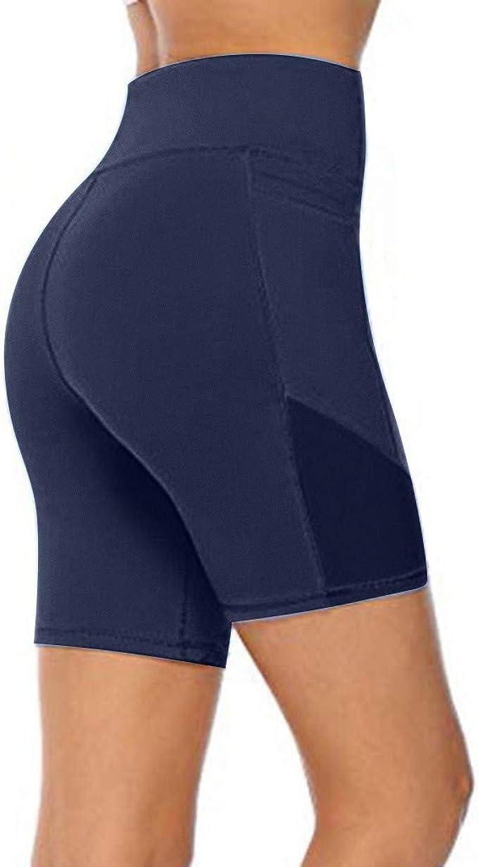 Kamo Fitness Yoga-Shorts mit hoher Taille Batikf/ärbung weiche Trainingshose Po zum Gewichtheben 15,2 cm Schrittl/änge Bauchkontrolle