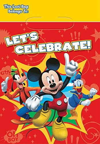 American Greetings Mickey Mouse Clubhouse Treat Bags, 8-Count -