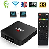 Android 7.1 TV Box, YAGALA T95 S1 Amlogic S905W Quad Core 2GB/16GB HDMI 4K Full HD Ethernet WiFi 2.4GHz USB Media Player