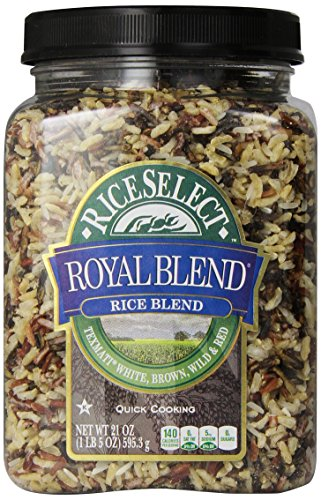 Rice Select Royal Blend, Texmati White, Brown, Wild, & Red Rice, 21 oz