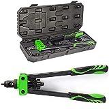 DoubleSun 14-Inch Hand Riveter Rivet Gun Nut Setter kit-6 PCS Metric & SAE Mandrels(M6 M8 M10& 1/4-20 5/16-18 3/8-16) and 90 PCS Rivnuts (Riveter)