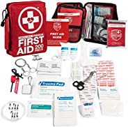 200-Piece Professional First Aid Kit for Home, Car or Work : Plus Emergency Medical Supplies for Camping, Hunt