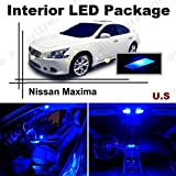 Ameritree Nissan Maxima 2009-2014 (11 Pieces) Blue LED Lights Interior Package and Blue LED License Plate Kit