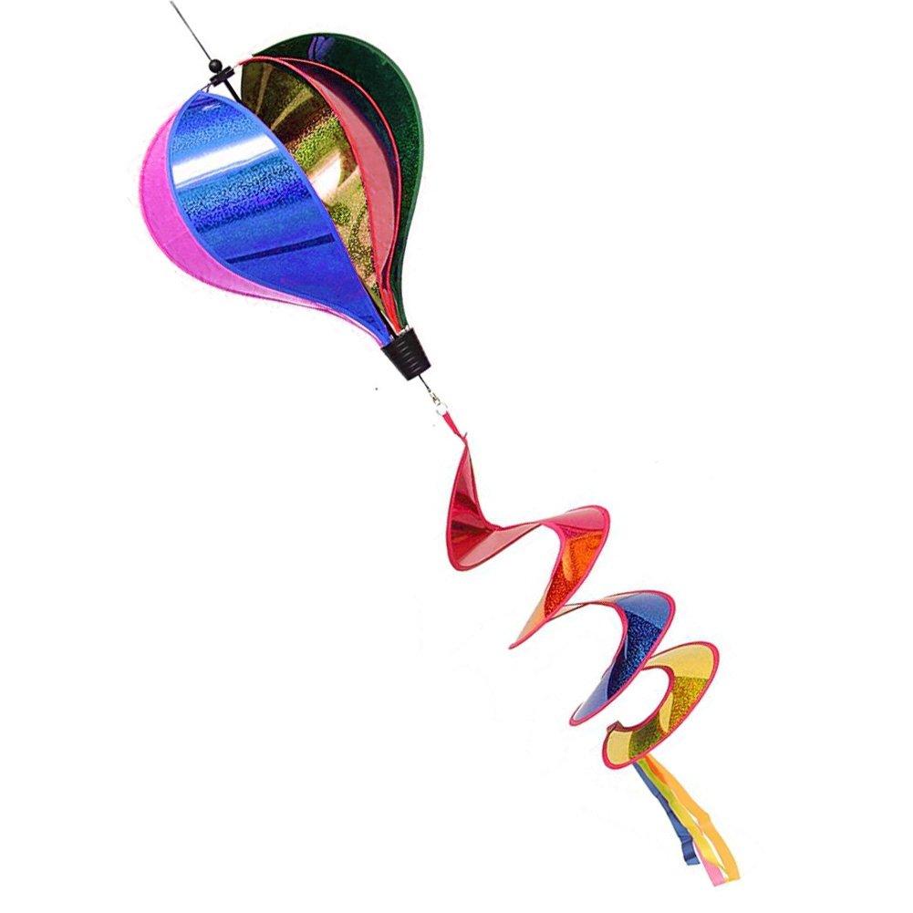B071WBHPN6onpieceマルチカラーストライプスパンコールWindsockホットエアバルーン風スピナーYardアウトドアインテリア B071WBHPN6, のんた靴店:f403c9ef --- artmozg.com