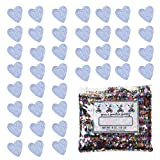 Confetti Heart 1/4'' Iridescent - One Pound Bag (16 oz) Free Priority Mail --- (CCP8521)