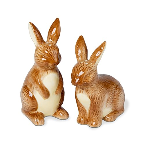 TAG - 'In the Garden' Rabbits Salt & Pepper Shakers Set