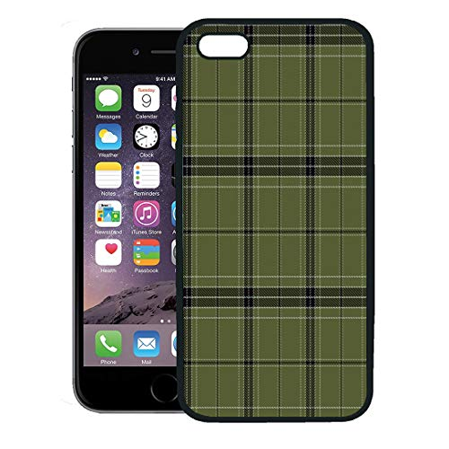 (Semtomn Phone Case for iPhone 8 Plus case,Flannel Plaid Tartan Traditional Scottish Tiles for Abstract Ancient iPhone 7 Plus case Cover,Black)