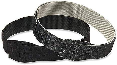 Black ONE-WRAP® Ties x 1//4in VELCRO® Brand 91141 2 Pack 8in