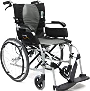 "Karman Silla Ergonómica Ergo Lite 2 con asiento de 18"" (45,7 cm), estructura pla"