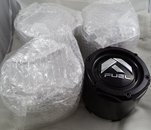 Fuel Gloss Black Rivets Custom Wheel Center Caps Set of Four (4) 1003-50B by Fuel (Image #1)