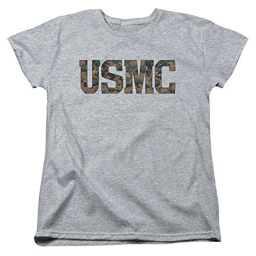 ps USMC Camo Fill Women's T Shirt (Marine Corps T-shirt Camo)