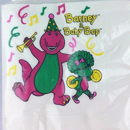 Barney Baby Bop Party Birthday Napkins Cake Dessert Decoration 16PC
