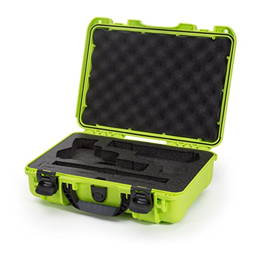 Army Gun Classic (Nanuk 910 Waterproof Professional Classic Pistol/Gun Case, Military Approved with Custom Insert for 2UP - Lime)