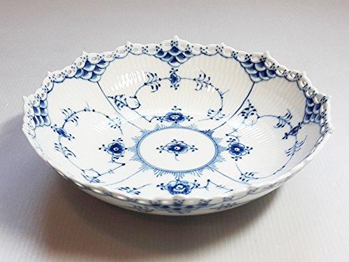 ロイヤルコペンハーゲン ボウル■ブルーフルーテッド フルレース サラダボウル 深皿 1級品 美品 2 B074345MMH