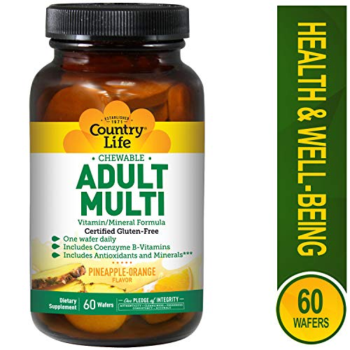 Country Life Chewable Adult Multi - with Antioxidants and Activated B Vitamins - 60 Wafers