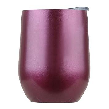 igemy Acero Inoxidable Stemless Vino Agua rígida doble pared aislamiento al vacío