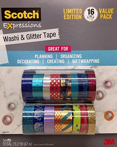 (Scotch Washi & Glitter Tape Expressions 16 ct)