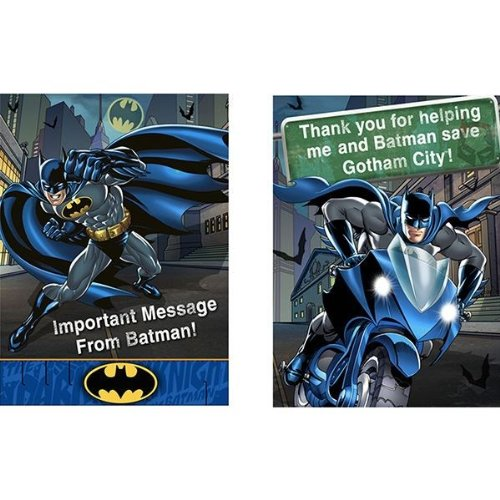 Batman Party Invitations & Thank You Postcards Pack