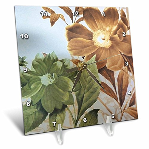 3dRose dc_7529_1 Vintage Flowers-Desk Clock, 6 by 6-Inch Review