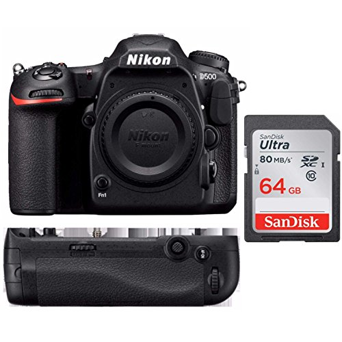 Nikon D500 DX Format DSLR Camera Body + Nikon MB-D17 Battery Grip + Kit