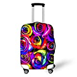 FOR U DESIGNS 22-25 inch Luggage Cover for Suitcase with Colorful Rose Pattern