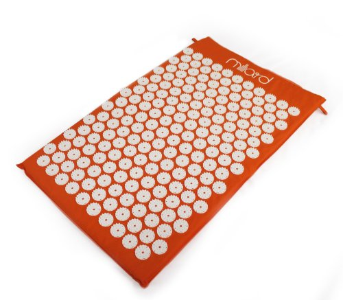 Milliard Therapeutic Acupressure Mat   Great For Relieving Neck  Sciatic And Back Pain   26In X16in   Orange