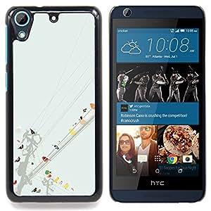 """For HTC Desire 626 Case , Aves de la línea de arte colorido Pintura Acuarela"""" - Diseño Patrón Teléfono Caso Cubierta Case Bumper Duro Protección Case Cover Funda"""