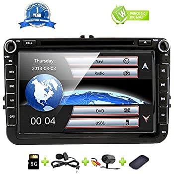 Amazon.com: Car Stereo Touch Screen Bluetooth GPS DVD Double ...