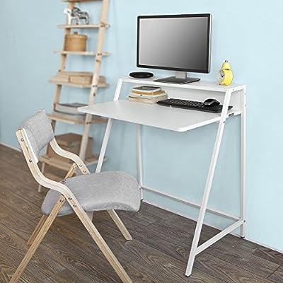 SoBuy® Mesa de Escritorio, Mesa de Ordenador con Dos estantes ...