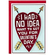 Hallmark 0499VFE7192 Shoebox Funny Valentine's Day Greeting Card for Romantic Partner (Heart and Arrows)