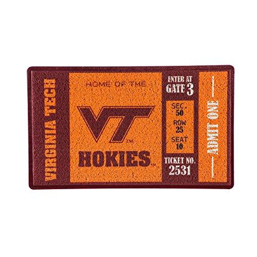 - Team Sports America Virginia Tech Recyclable PVC Vinyl Indoor/Outdoor Weather-Resistant Team Logo Door Turf Mat