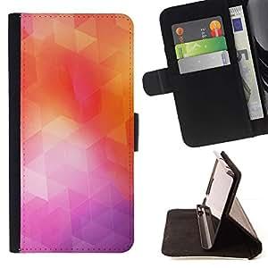 Momo Phone Case / Flip Funda de Cuero Case Cover - Geometría de neón;;;;;;;; - Samsung Galaxy S6