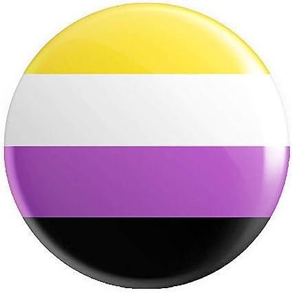 12 x Non-Binary Pride Flag BUTTON PIN BADGES 25mm 1 INCHLGBTQ Rainbow