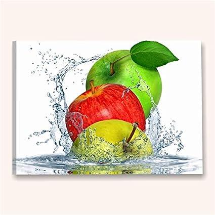 Apples Fresh - Quadri Moderni Cucina con Frutta Mele 70 x 50 cm ...