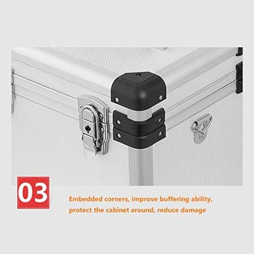 JSY アルミツールボックスポータブルトランク航空アルミニウム金属ツールボックスアルミ製ボックス計器ケース ツールボックス