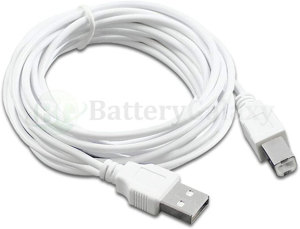 6 ft, 100 1-100 Lot 6 10 15 Compatible with HP PSC All-in-One Printer USB Premium Cable Cord A-B