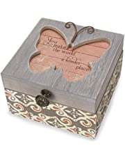 Pavilion Gift Company 41102 Simple Spirits - Patterned Butterfly Someone Special Jewelry Box Pink