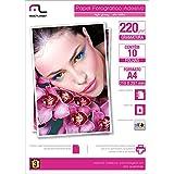Papel Fotográfico Adesivo 220g M2 10 Folhas A4, Multilaser PE001, Branco