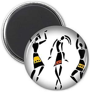 Primitive Africa Aboriginal Black Totems Dance Refrigerator Magnet Sticker Decoration Badge Gift