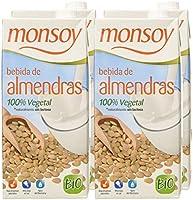 Monsoy - Bebida Ecológica de Almendras - Caja de 4 x 1L: Amazon.es ...