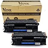 V4INK 2 Pack Compatible Replacement for 05A CE505A Toner Cartridge - Black for use in HP LaserJet P2035, P2035n, P2055dn series printers