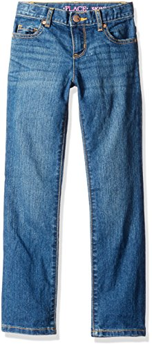 The Children's Place Big Girls' Skinny Jeans, Medbluewsh 3521, 8