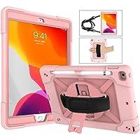 A-BEAUTY Funda para iPad 8/7 (10,2 Pulgadas, 2020/2019 Modelo, 8ª / 7ª Generación), con [Protector de Pantalla] [Lápiz…