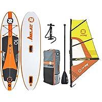 z-ray W1 10 'Windsurfing SUP aufblasbares Stand Up Paddling mit Pumpe/Paddel/Rig/Rucksack, 15,2 cm