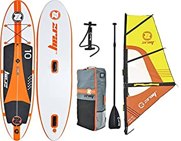 Z-Ray W2 Windsurfing Inflatable Stand-Up Paddleboard Set with Board