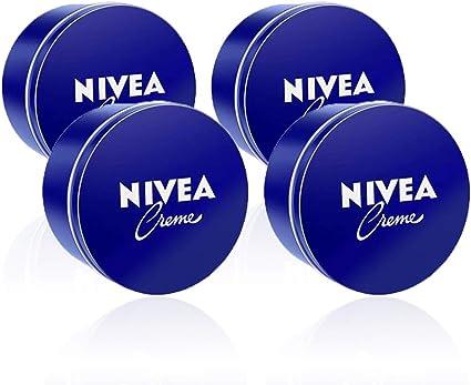 NIVEA Creme en pack de 4 (4 x 400 ml), crema hidratante de manos, cara y cuerpo para toda la familia, crema universal para una piel suave e hidratada, crema multiusos: Amazon.es: Belleza