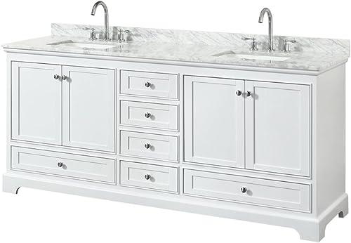 Wyndham Collection Deborah 80 inch Double Bathroom Vanity