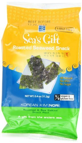 Sea's Gift Korean Seaweed Snack, Kim Nori, Roasted and Sea Salt, 0.4-Ounce (Pack of 12) by Sea's Gift